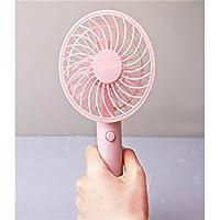 FenBuGu-JP 興味深い ハンドヘルド電動ファンミニポータブル屋外ファン充電式電池Foldableハンドルデスクトップ(ピンク)