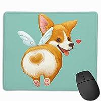 かわいいコーギー マウスパッド ゲーミング ゲームオフィス 高級感 おしゃれ 防水 耐久性が良い 滑り止めゴム底 適用 マウスの精密度を上がる