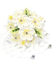 振袖用 簪 髪飾り つまみ細工【梅の花束 ホワイト 白 14831】古典 かんざし