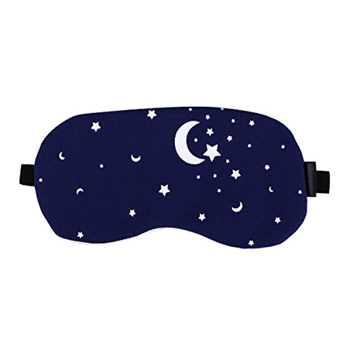 カリング家族スロープHealifty 男性と女性のための夜の眠りの目のマスクの綿とリネンの睡眠の盲目の睡眠のマスクのアイカバー調節可能なアイシェード(星空)