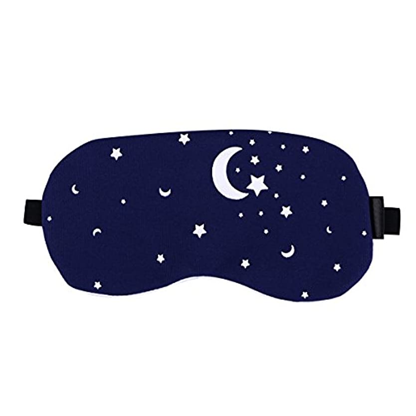 くびれたモニカユーザーSUPVOX コットンスリーピングマスクブラインダーパッチ調節可能なストラップアイシャドーコールド/ホットジェル(星空)
