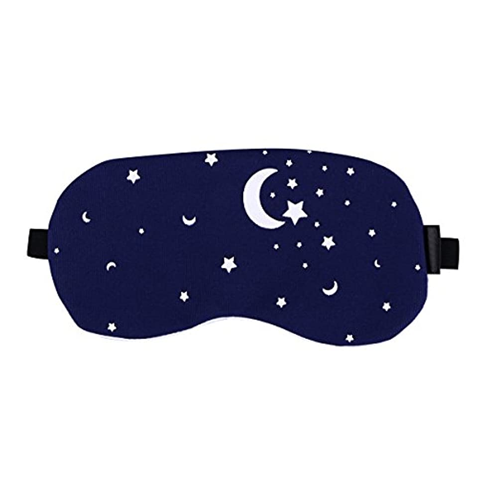 ボット落胆する一節Healifty 男性と女性のための夜の眠りの目のマスクの綿とリネンの睡眠の盲目の睡眠のマスクのアイカバー調節可能なアイシェード(星空)