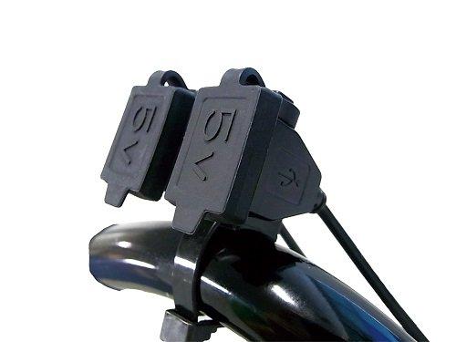 バイク用電源 USBステーション ダブル2 USB端子2口タイプ NS-005