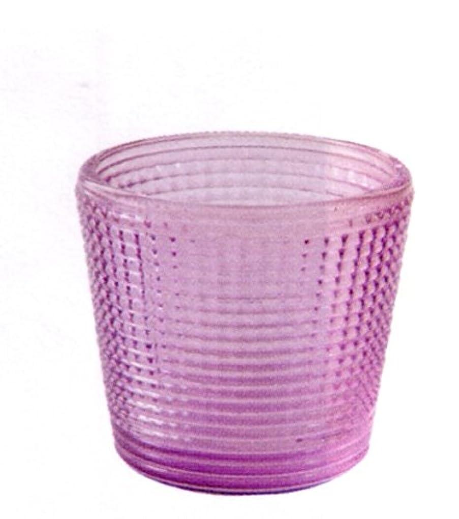 浅い花輪食用キャンドルグラス グレイン パープル