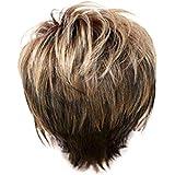 ウィッグ女性の金茶色の短いストレートヘアファッションセクシーなかつら31 cm