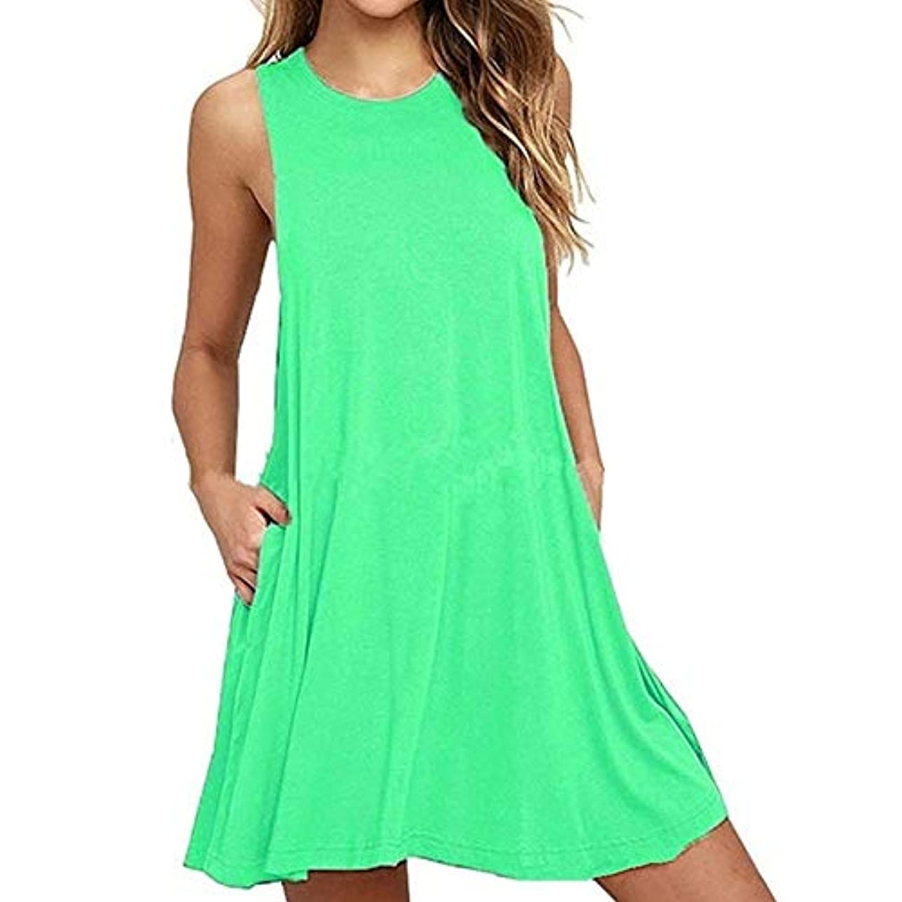 普通に被る乱闘MIFAN 人の女性のドレス、プラスサイズのドレス、ノースリーブのドレス、ミニドレス、ホルタードレス、コットンドレス