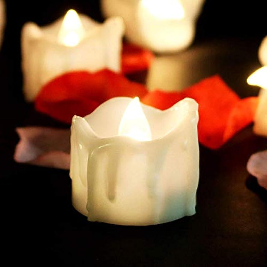 望む列挙するみすぼらしいHoudlee 12個セット 小型電池式キャンドル タイマー付き 揺らめくフェイクエレクトリックフレームレスティーライト 自動タイマーLEDキャンドル 炎なしティーライト ホームホリデーパーティー装飾に 1.4x1.4インチ ホワイト Tears Candles With Timer-Warm White-12