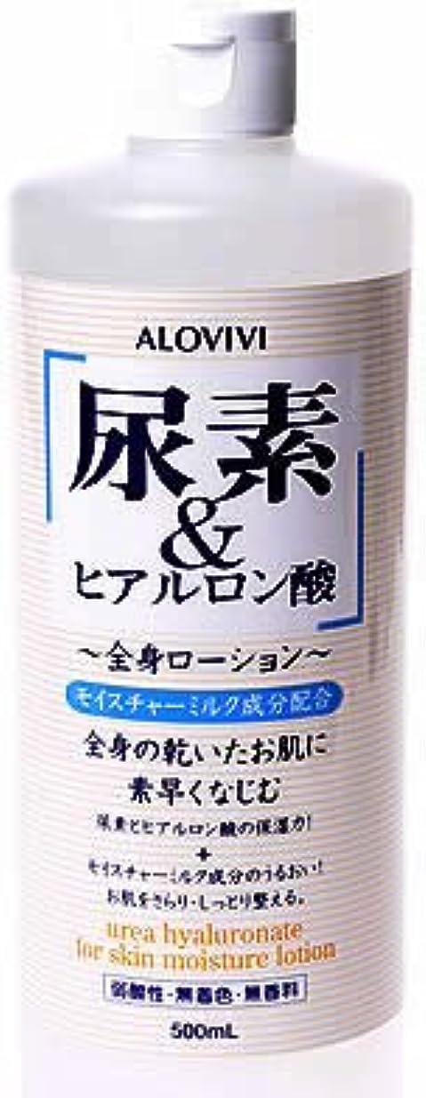 添付変装した骨の折れるアロヴィヴィ 尿素&ヒアルロン酸全身ローション 500ml