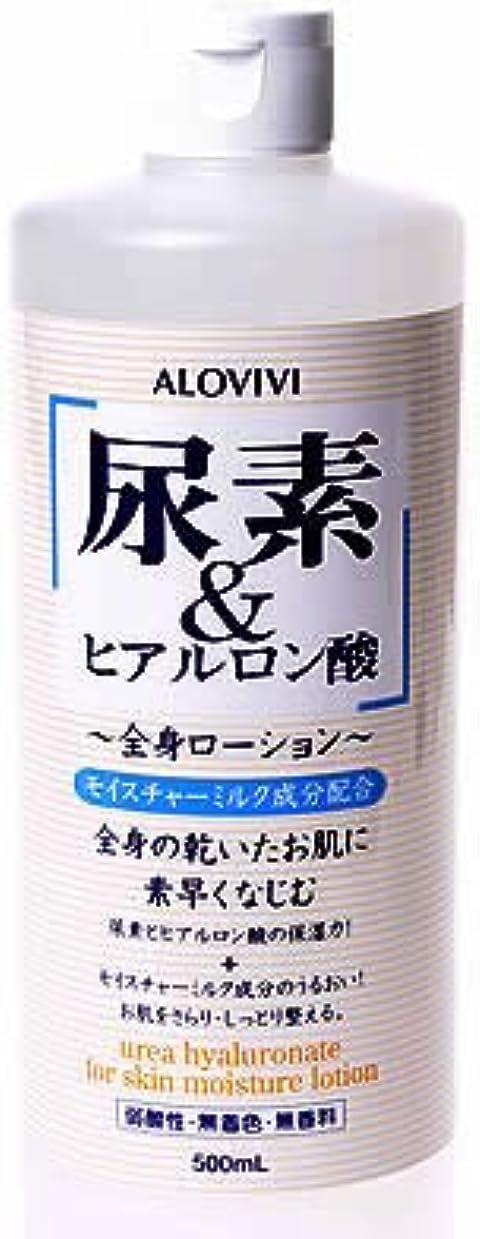 行商糸持参アロヴィヴィ 尿素&ヒアルロン酸全身ローション 500ml