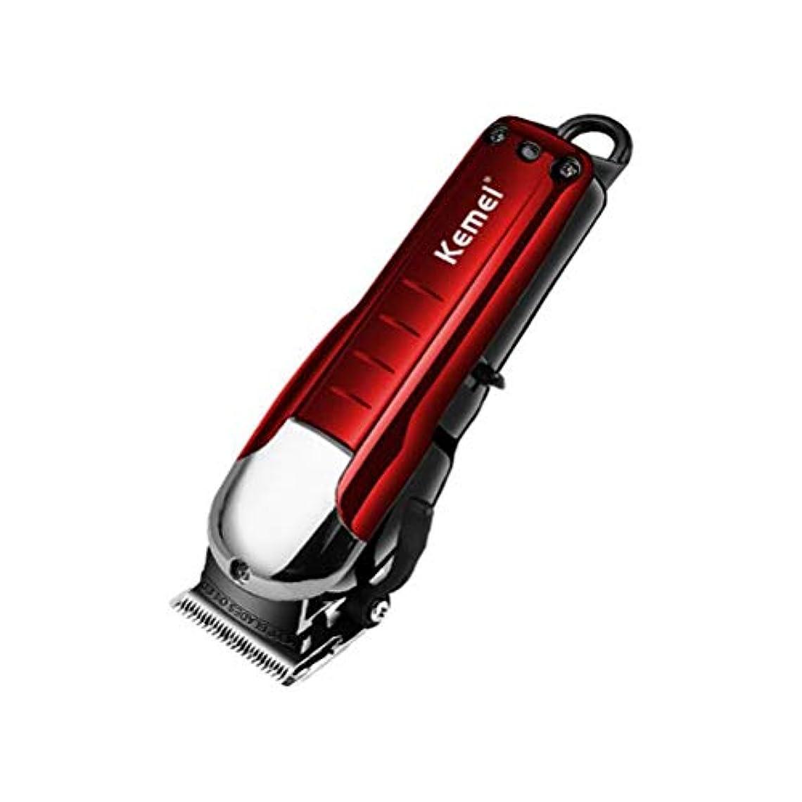 顔料パワー因子プロフェッショナル 男性と家族のためのヘアクリッパーひげトリマーツールセットコードレスクリッパー卸売ハイパワー かんたん, Red