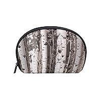 バーチ 樺 樹 半月 化粧品 メイク トイレタリーバッグ ポーチ 旅行ハンディ財布オーガナイザーバッグ