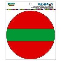 沿ドニエストル国立国旗 - サークル MAG-格好いい'S(TM)カー/冷蔵庫マグネット