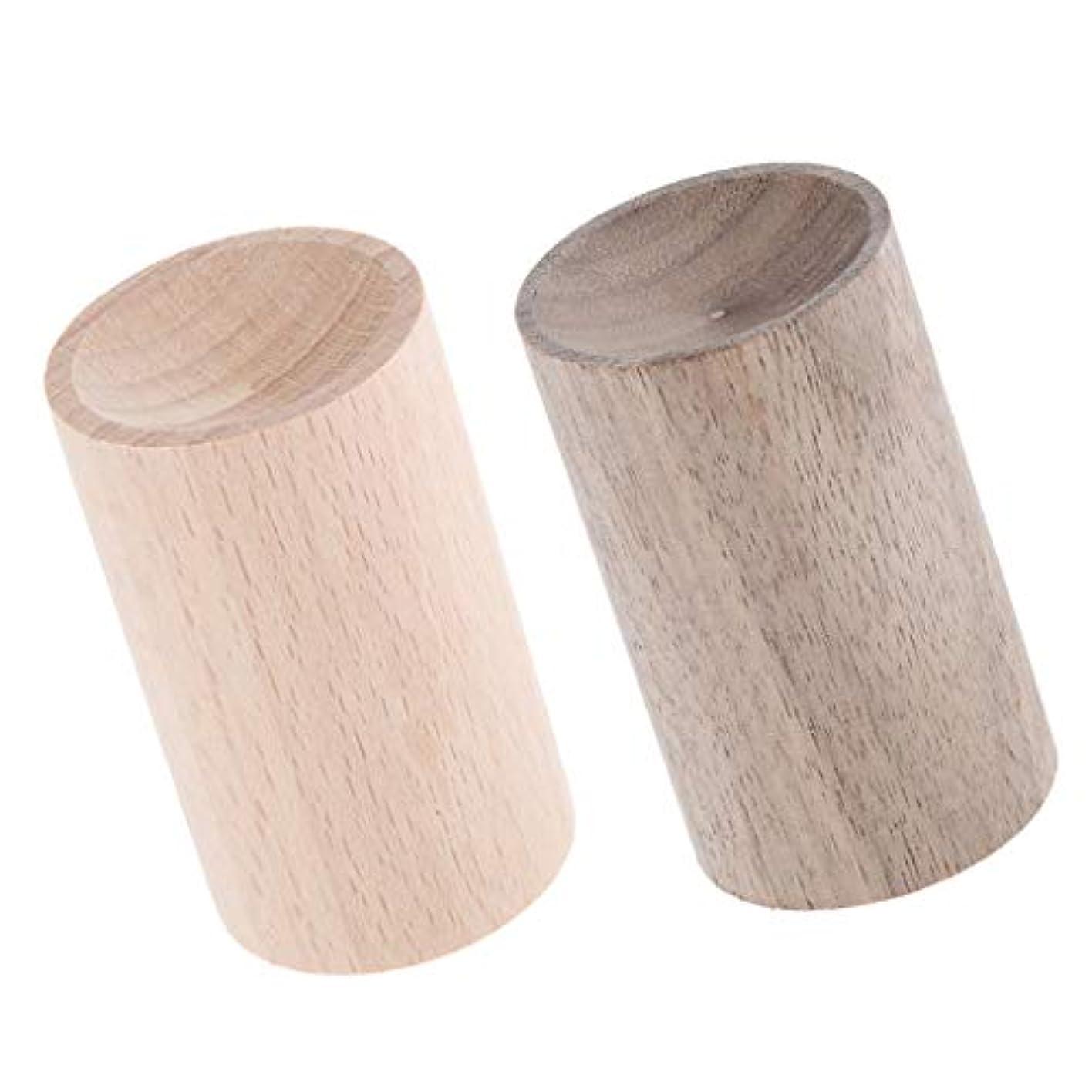 夕方デコラティブハムP Prettyia エッセンシャルオイルディフューザー 芳香剤 手作り 天然木 車、家、オフィス 贈り物 2個入