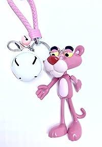ピンクパンサー キーホルダー 大鈴つき 2カラー (ピンク , ブラック) (ピンク)