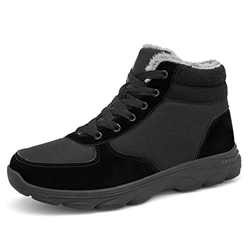 [NAUVENO] スノーシューズ メンズ レディース 防水 防寒 保暖 裏起毛 冬用 カジュアル 防滑の綿靴 雪靴 通学 通勤用