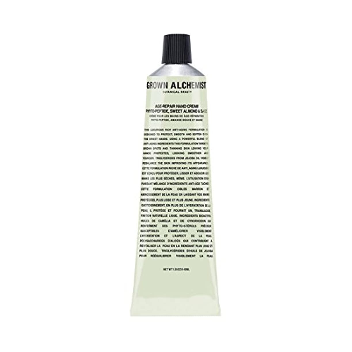 義務的紀元前徹底Grown Alchemist Age-Repair Hand Cream - Phyto-Peptide, Sweet Almond & Sage 40ml/1.35oz並行輸入品
