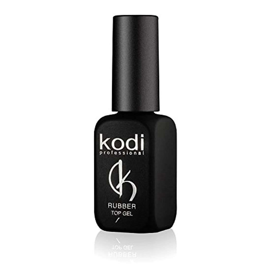 会計士消防士滑りやすいProfessional Rubber Top Gel By Kodi | 12ml 0.42 oz | Soak Off, Polish Fingernails Coat Gel | For Long Lasting...