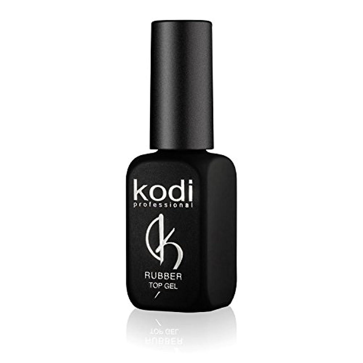 妨げるぴかぴかコンサートProfessional Rubber Top Gel By Kodi | 12ml 0.42 oz | Soak Off, Polish Fingernails Coat Gel | For Long Lasting...