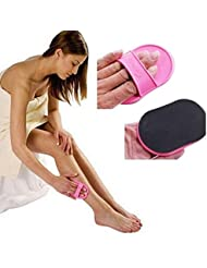 Onior 角質除去脱毛パッド - 脚の上のなめらかな肌のためにフェイスフェイストップリップ丈夫で実用的