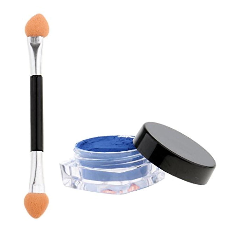 スカルク振るうゲートPerfeclan ネイル マニキュア顔料 温度色変化 熱顔料 ブラシ 全12色選べる - 青