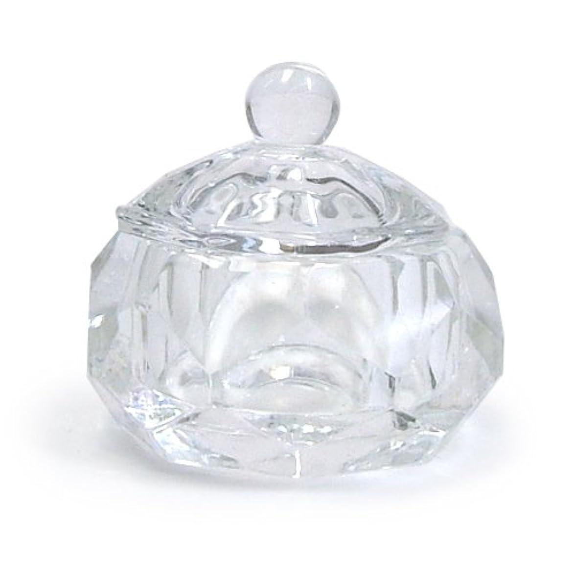 クッション札入れすずめダッペンディッシュ フタ付き (ガラス製)