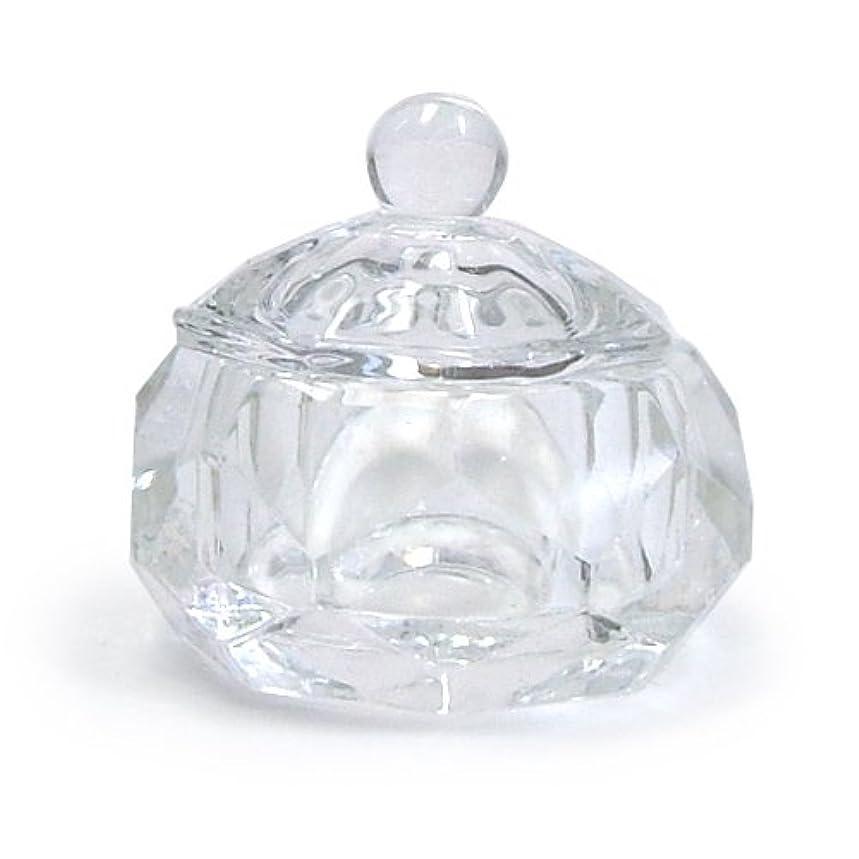 粗い雪緩むダッペンディッシュ フタ付き (ガラス製)