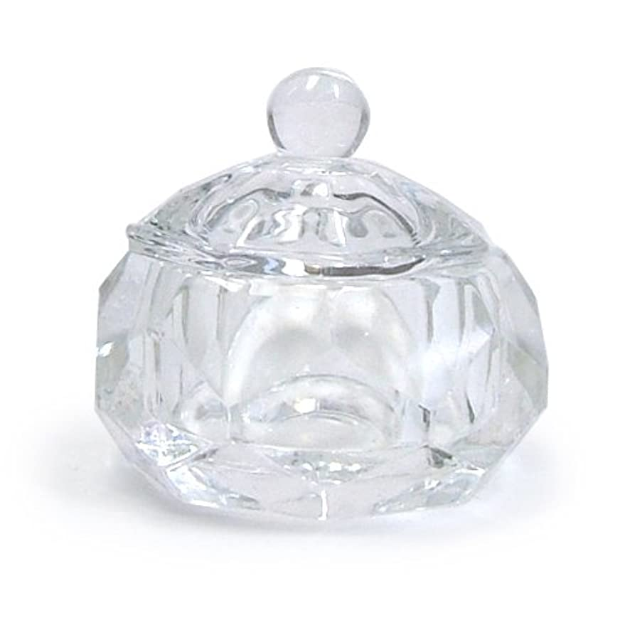 四分円じゃがいも嘆くダッペンディッシュ フタ付き (ガラス製)
