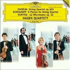 ハーゲン弦楽四重奏団演奏 ドヴォルジャーク:弦楽四重奏曲第14番ほかの商品写真