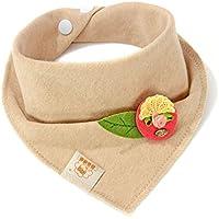 リーフ&レッドbaby-girl-boys-kids-cotton-triangle-head-scarf-bandana-bibs-saliva-towel-dribble