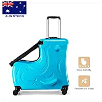 24 inch Kids Travel Luggage Suitcase Can Be Seated Ride on Wheel Toy Box