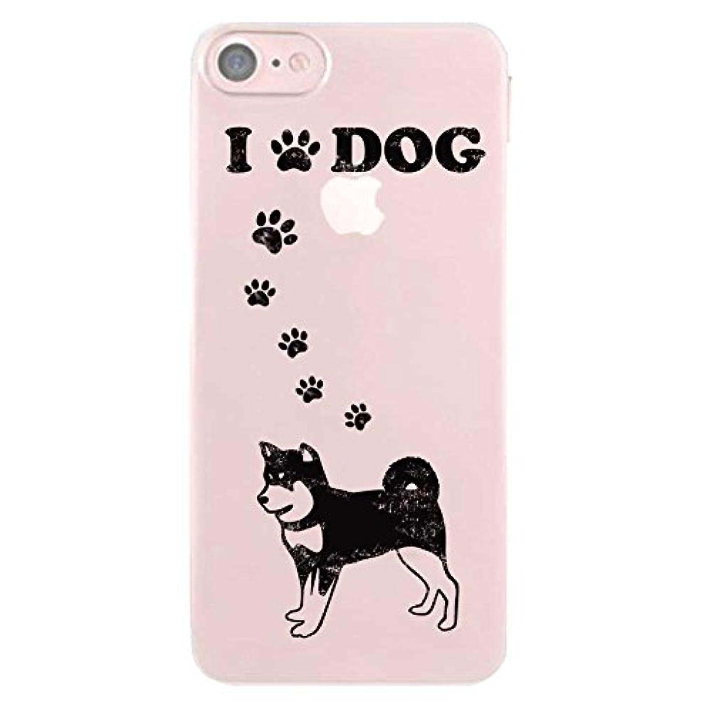 悲惨なクリップラダiPhone7 ケース TPU クリア 半透明 ドッグシリーズ ビンテージ風 柴犬 888-59389