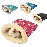 小さなペットハウス 暖かい寝袋 超可愛い小動物用 ハリネズミ ハムスター ペットのハンギング 小動物ベッド 暖かい巣 おもちゃ ハムスター、スナネズミ、マウス、ラット、小さなオウムのハンモック 寒さ対策 ランダムな色