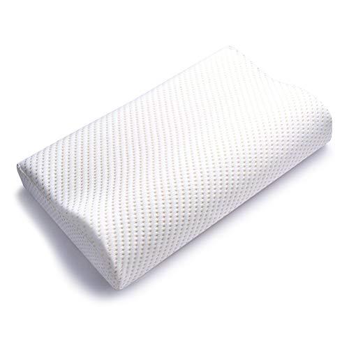 枕 安眠 快眠枕 熟睡 低反発枕 首・頭・肩をやさしく支える枕 人気 ホワイト (50 * 30 * 10) Feezen