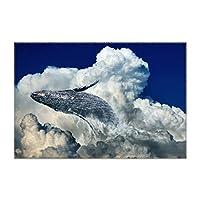 ランチョンマット 空を横切るクジラの泳ぎ きれい 1枚セット 義務用 断熱 撥水 防汚 速乾 水洗いOK 耐久性 シワに対する 家庭用 シンプル 便利 お手入れ
