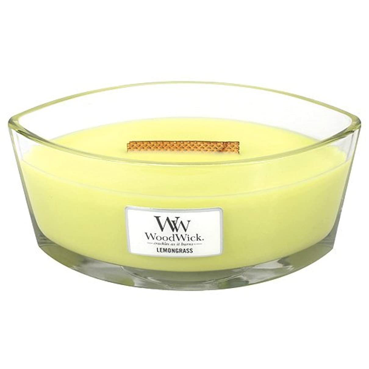 ヒステリックうそつき温室レモングラスHearthWick Flame Large Scented Candle by WoodWick