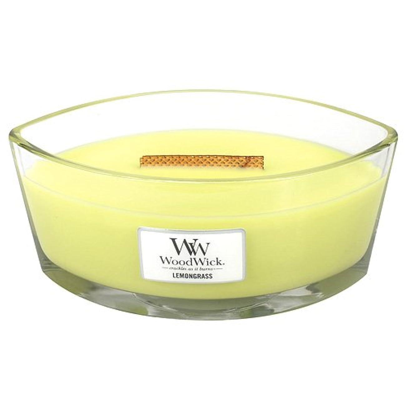 アニメーション遊具生産性レモングラスHearthWick Flame Large Scented Candle by WoodWick