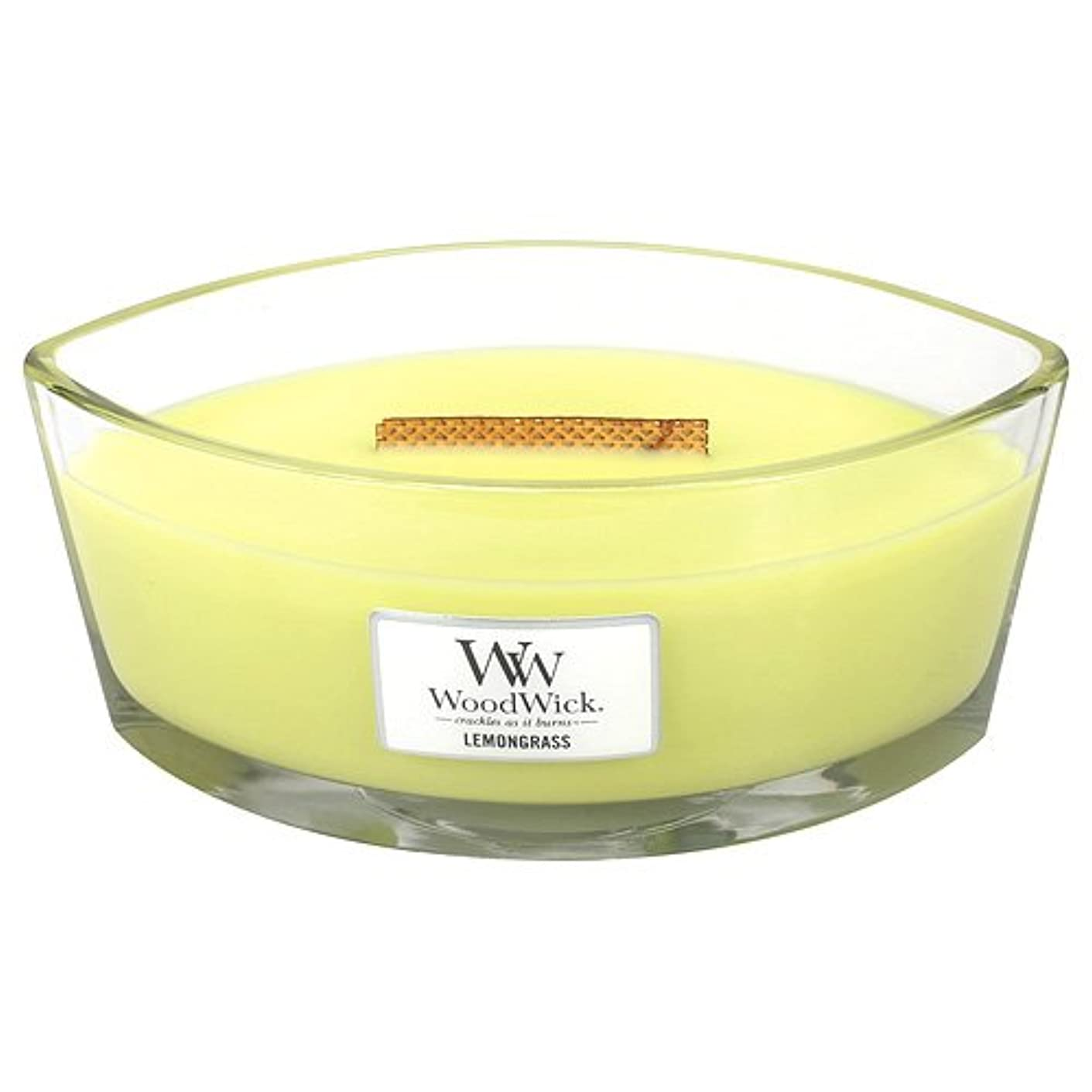 排除するゆり夕方レモングラスHearthWick Flame Large Scented Candle by WoodWick