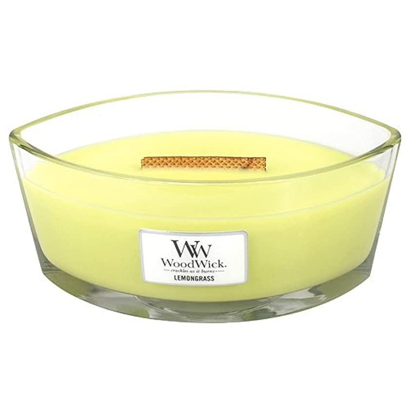 ゲージ味わう長椅子レモングラスHearthWick Flame Large Scented Candle by WoodWick