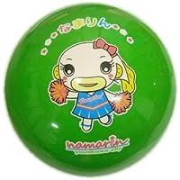 【マイカラーボール】 (6インチ/直径15㎝) ご当地キャラクターカラーボール なまりん 1個セット (黄緑)