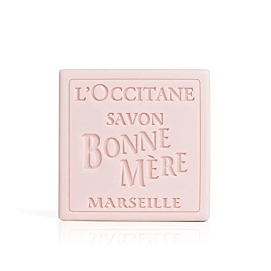 ささいなキーミニロクシタン(L'OCCITANE) ボンメールソープ ワイルドローズ 100g