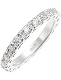 アクセサリーショップピエナ リング 指輪 メンズ ユニセックス ペア ジルコニア エタニティ パヴェ 13号 シルバー925製