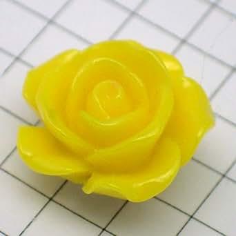 限定 レア ピンバッジ 黄色 の ローズ 薔薇 バラ の 花 ピンズ ピンバッチ