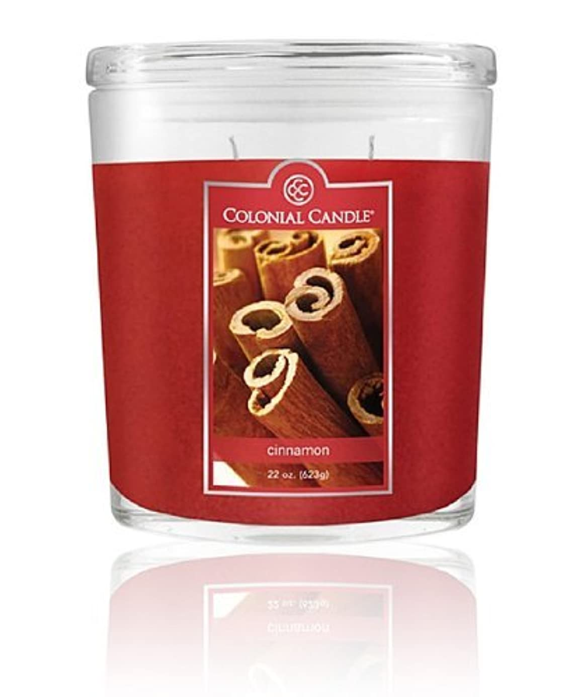 Colonial Candle Cinnamon Oval Jar Candle 22 Oz. by Colonial Candle [並行輸入品]