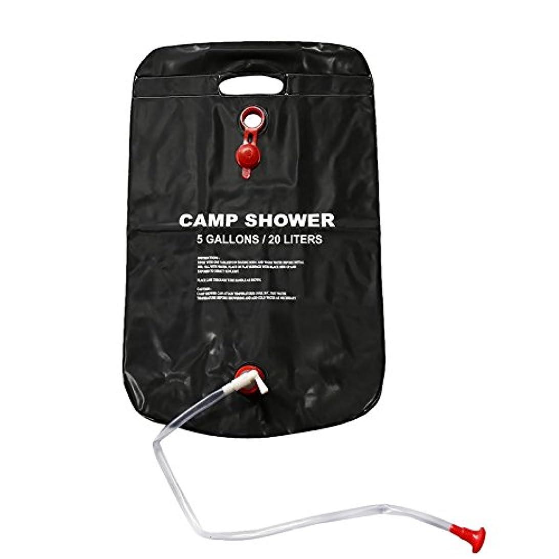 元気な百小切手TOOGOOシャワーバッグ折りたたみ式ソーラーエネルギーHeated Camp PVC水バッグキャンプアウトドア登山旅行ハイキングBBQピクニック水ストレージ20l