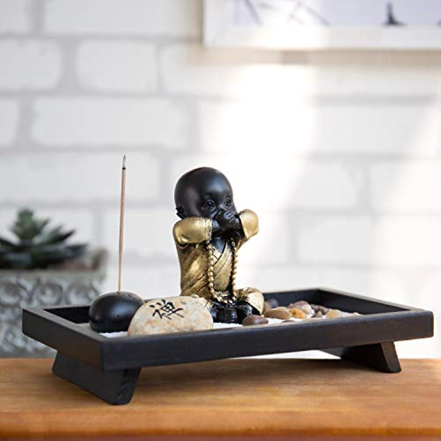 暫定の系譜飼い慣らすMyGift 仏像とお香立て付き卓上禅の庭