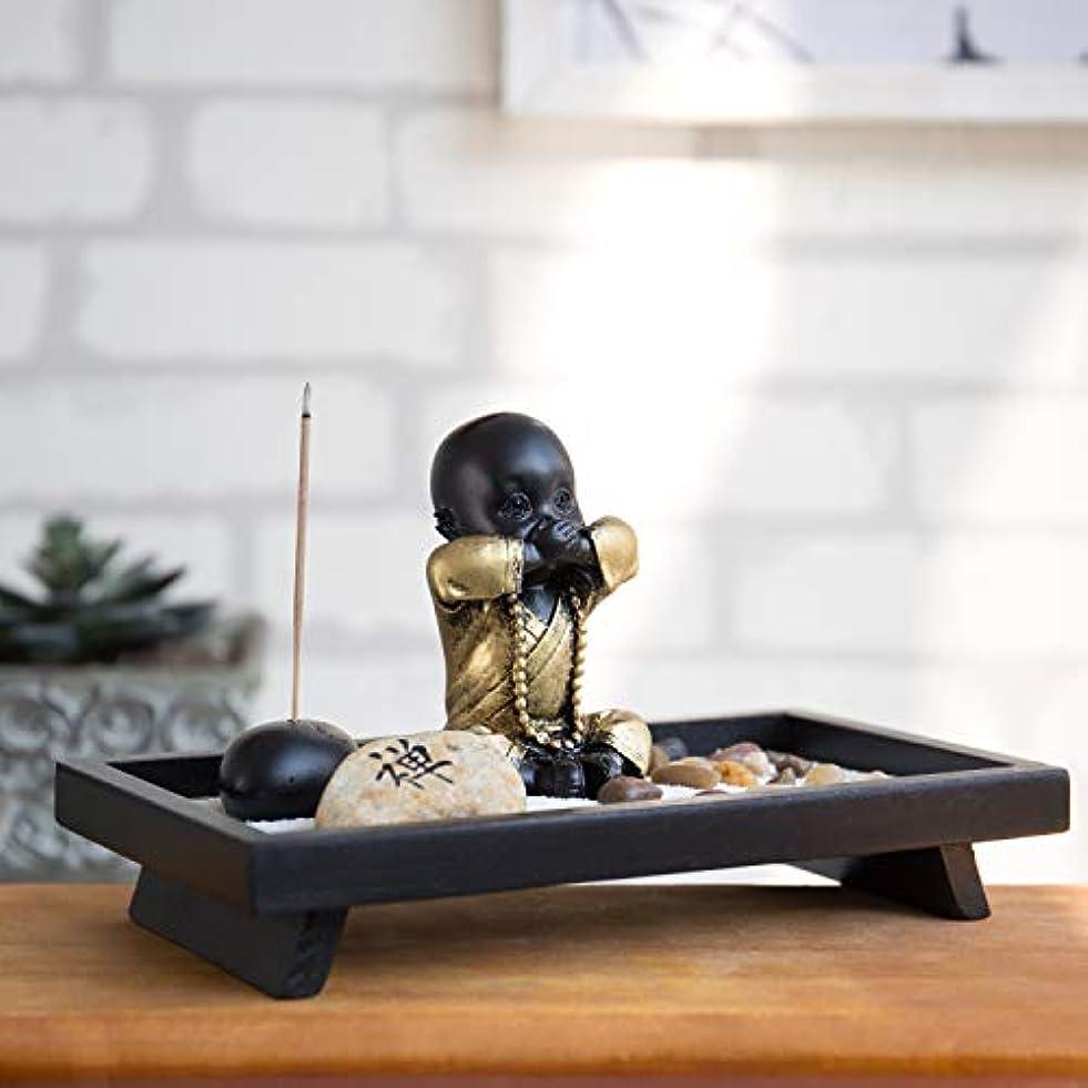 デコードする取る友情MyGift 仏像とお香立て付き卓上禅の庭