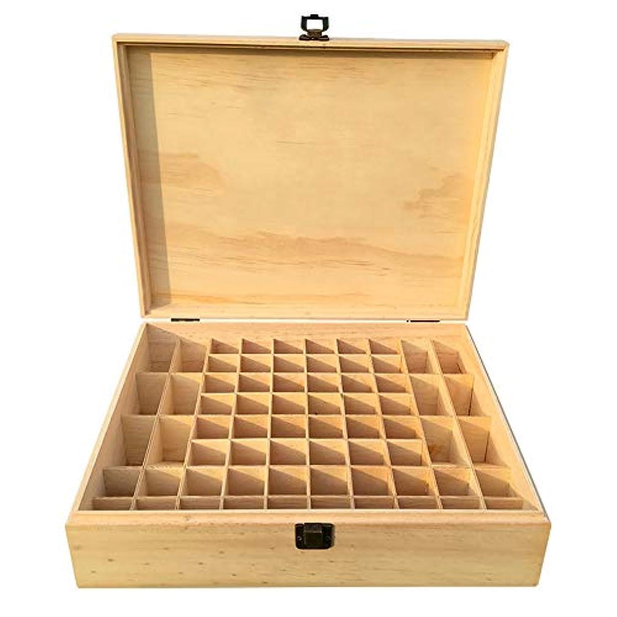 セーブ匹敵しますオーロックエッセンシャルオイルボックス あなたの精油セキュリティ木箱を維持するための最良の5?10ミリリットル大型石油貯蔵68ボトルケース管理のストレージ アロマセラピー収納ボックス (色 : Natural, サイズ : 34X27.5X9CM)