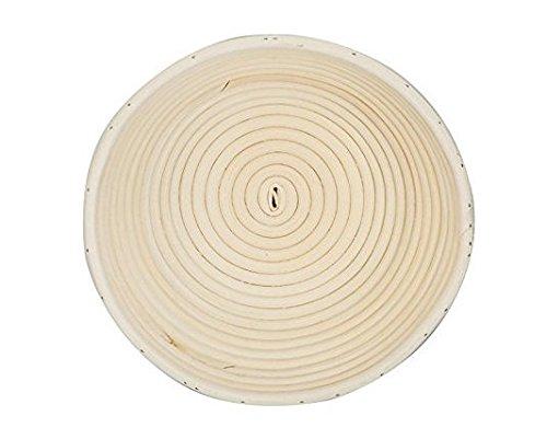 籐製醗酵カゴ パン作りの小道具 バヌトン カンパーニュ作り 25x9cm 1個セット