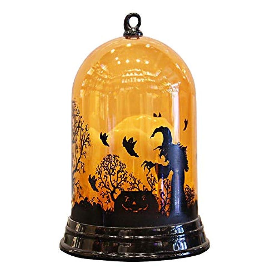 リブシンプルさラジウムハロウィーン 装飾 ライト 夜間照明 LED 風ライトパーティー 小道具 ハロウィンパーティーのためのシーンの配置 照明飾 FidgetFidget スタイリッシュなハロウィンのパンプキンの魔女の光ランプハロウィーンの装飾の光を吊るす candle light