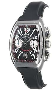 [フランク ミュラー] FRANCK MULLER 腕時計 コンキスタドール・クロノ 8005CC シルバー 黒ラバーベルト メンズ [並行輸入品]